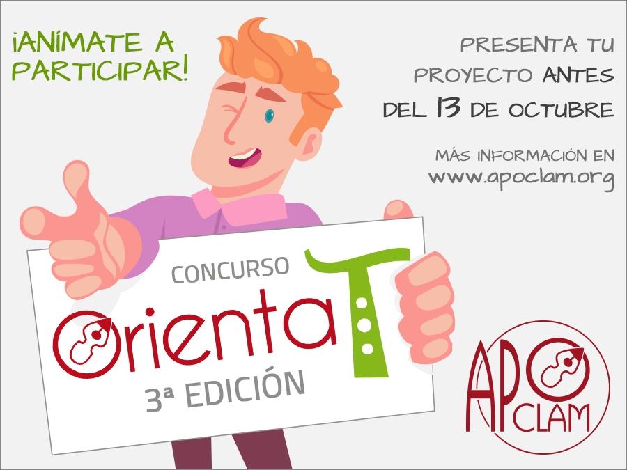 """Ya puedes inscribirte en el concurso de experiencias en orientación educativa """"OrientaT"""" organizado por APOCLAM"""