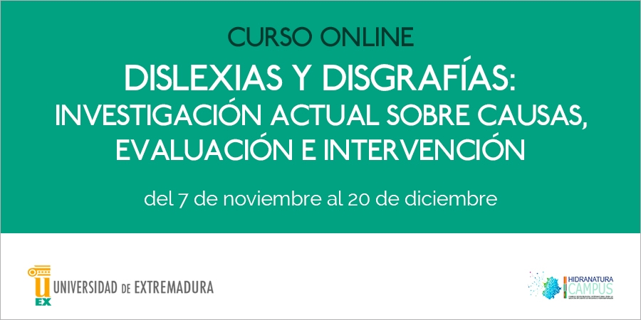 "Curso online: ""Dislexias y disgrafías: investigación actual sobre causas, evaluación e intervención"", del 7 de noviembre al 20 de diciembre"